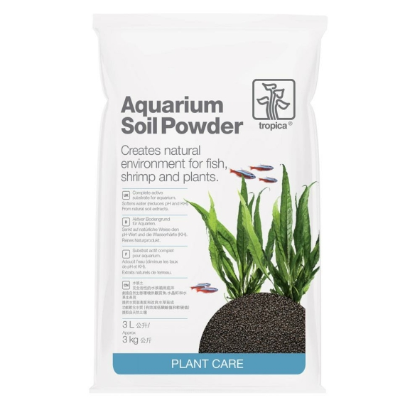 Aquarium Soil Powder 1-2 mm Aquarienbodengrund 3 Liter