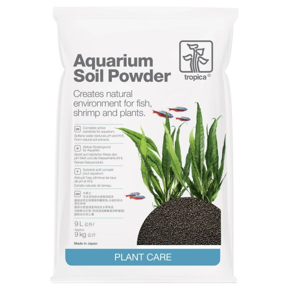Aquarium Soil Powder 1-2 mm Aquarienbodengrund 9 Liter